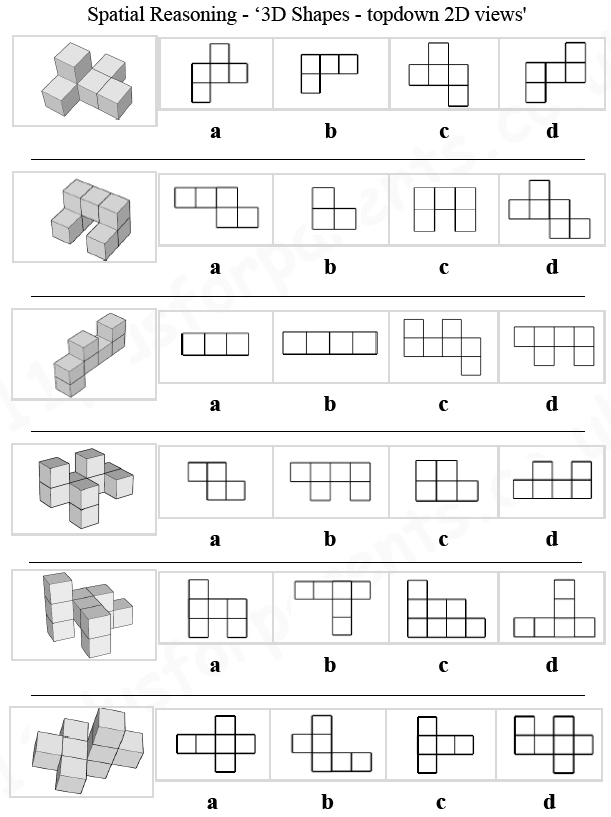11 Plus: Key Stage 2: 11 Plus Spatial Reasoning, 3D Shapes ...